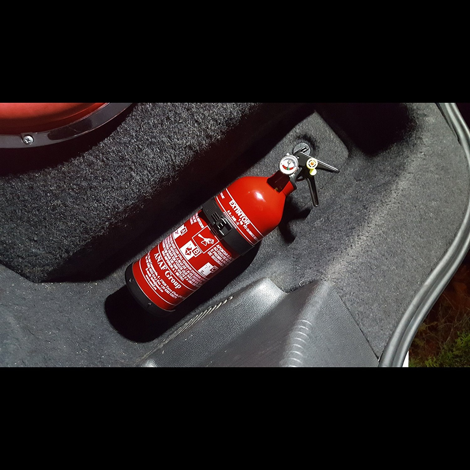 Car Plus Fire Extinguisher With Manometer And Holder 1 Kg Red 30 Cm
