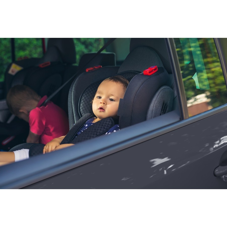 Carkids Car Seat Group 1 2 3 Isofix Black Red