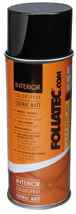foliatec interior color spray 400 ml cognac mat. Black Bedroom Furniture Sets. Home Design Ideas