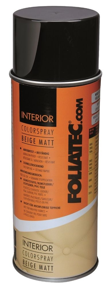 foliatec interior color spray 400 ml beige mat. Black Bedroom Furniture Sets. Home Design Ideas