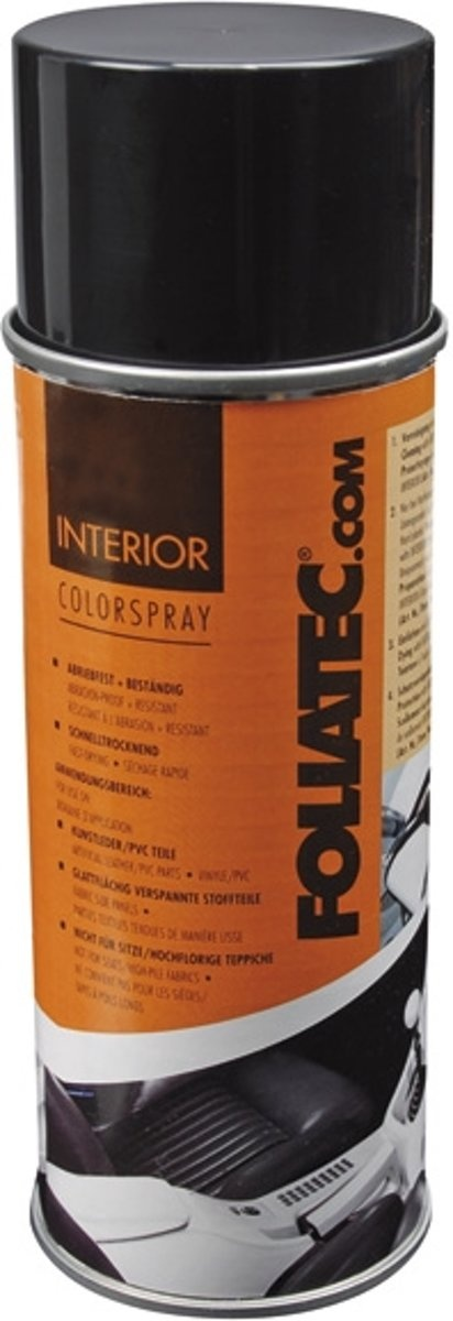 foliatec interior color spray 400 ml zwart glans. Black Bedroom Furniture Sets. Home Design Ideas