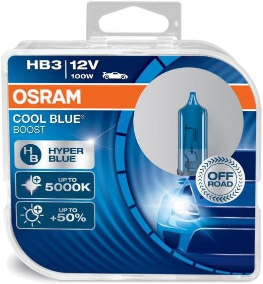 osram car lights cool blue boost hb3 100 watt 2 pieces. Black Bedroom Furniture Sets. Home Design Ideas