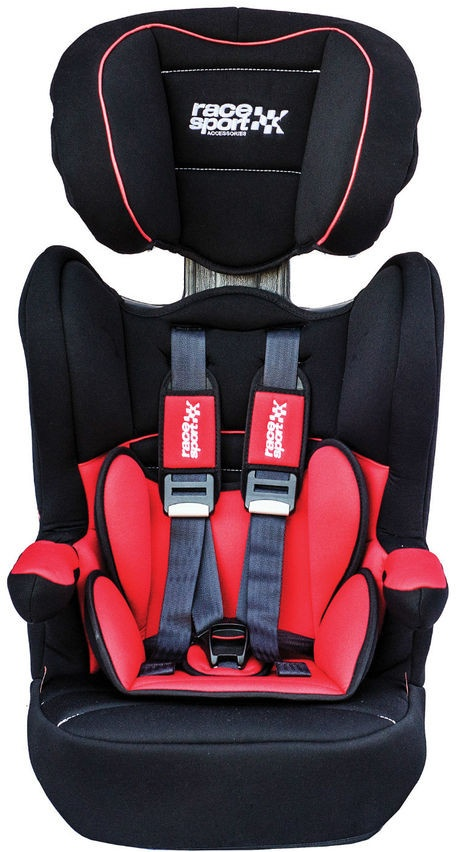 Race Sport Car Seat ISO Fix Group 1 3 Red Black