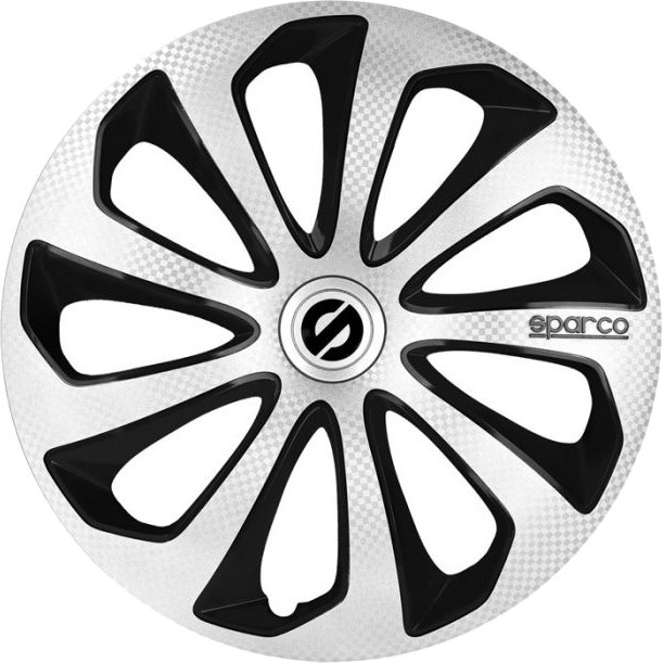 Sparco Wheel Covers Sicilia 16 Inch Abs Silver Black Set Of 4