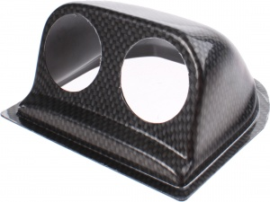 RGM meterhouder dashboard uni 52 mm 2 meters ABS carbon-look