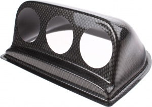RGM meterhouder dashboard uni 52 mm 3 meters ABS carbon-look