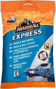 Armor All lingettes Express Wash & Wax Wipes 12 pièces