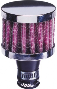 AutoStyle crankcase filter 53 x 65 mm Ø 15 mm pink / chrome