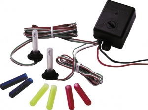 AutoStyle flashing light set 12 Volt blue/yellow/red