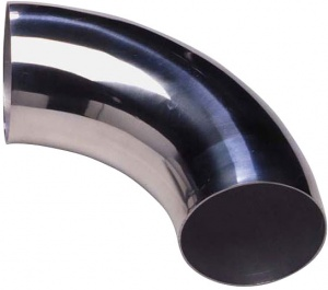 AutoStyle air filter tube 90 degrees Ø 57 mm chrome