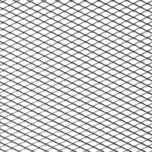 AutoStyle racing gauze diamond mesh 125x25 cm (16x8 mm) silver