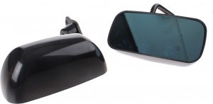 AutoStyle sport mirrors F1 manually with 2 pieces of black