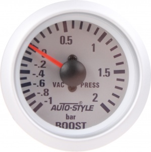 AutoStyle turbo pressure gauge 52 mm 12 volt silver