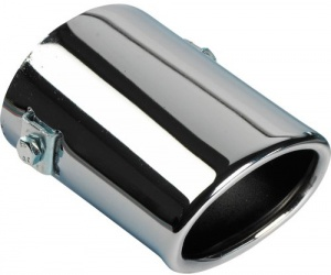 AutoStyle outlet piece oval> 55 mm 10.5 cm stainless steel chrome