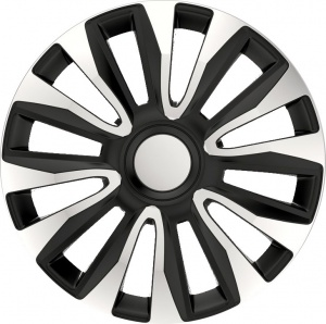 AutoStyle wheel covers Avalone Pro 14 inch ABS silver / black set of 4