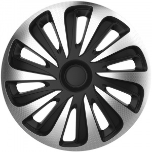 AutoStyle hubcaps Caliber17 inch ABS silver/black set of 4