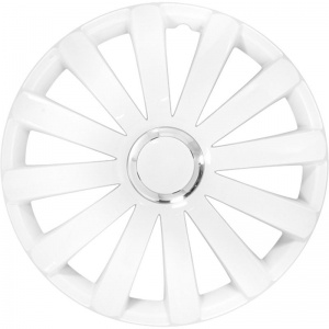 AutoStyle hub caps Spyder 15 inch ABS white set of 4