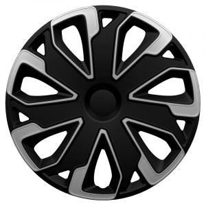 AutoStyle hubcaps Ultimo15 inch ABS black/silver set of 4
