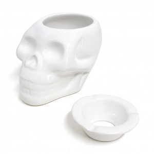 Balvi ashtray Skully10 x 13,5 cm ceramic white