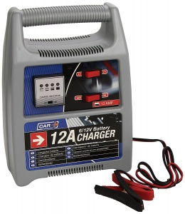 Car Plus battery charger 6-12 Volt 12 Amp Gray