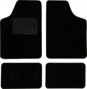 Car Plus automatic kit ready-made model 4 textile black 4-piece