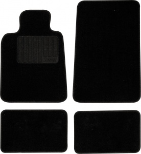 Car Plus automatic set ready-made model 5 textile black 4-piece