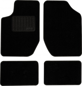 Car Plus automatic set ready-made model 6 textile black 4-piece