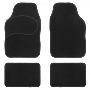Car Plus automattenset universal textile black 4-pieces