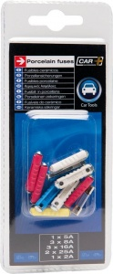 Carpoint car fuse set torpedo + glass 25 mm 13-piece