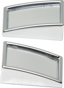 Car Plus dead corner mirrors rectangular 25 x 50 mm chrome 2 pieces