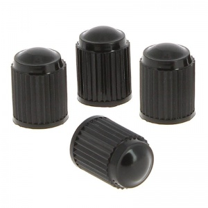 Car Plus valve caps AV plastic black 4 pcs