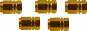 Race Sport Valve Hexagon AV Aluminum Gold 5 pcs
