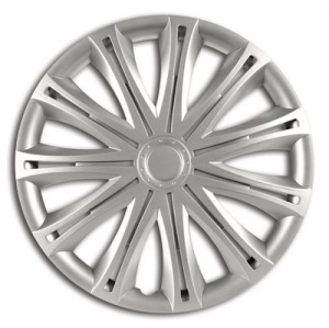 Car Plus wheel top Alabama 13 inch ABS silver set of 4