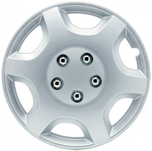 Car Plus wieldoppen Monaco 15 inch ABS zilver set van 4