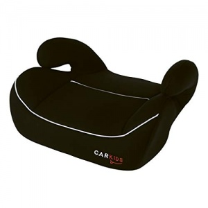 Carkids booster seat group 3 Isofix black with white piping