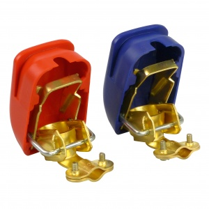 Carpoint battery terminal set DIN 16/18 mm quick-release fastener brass