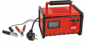 Carpoint 230V battery charger - 6/12V 18 cm red