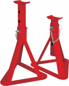 Carpoint shaft support 2 tons steel red 2 pieces