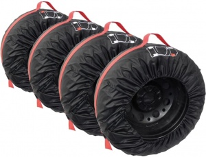 Carpoint tire covers 4 pieces black