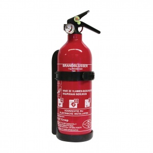Carpoint fire extinguisher ABC with pressure gauge 1 kg red 31 cm