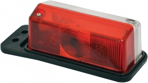 Carpoint breedtelicht 12 Volt halogeen 117 mm rood/wit