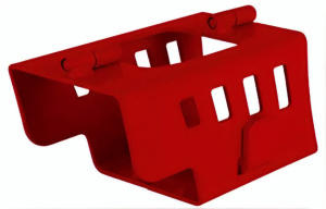 Carpoint disselslot 21 x 11 x 11 cm rood staal 2-delig