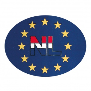 Carpoint Europe sticker en 11 x 9,5 cm blue
