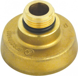 Carpoint gasnippel Italië 50 mm messing goud
