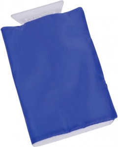 Carpoint ice scraper with glove blue