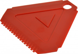 Carpoint ice scraper red 10 cm each
