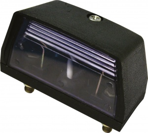 Carpoint kentekenverlichting 12 Volt 70 x 33 mm zwart
