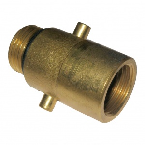 Carpoint LPG-nippel Bajonet 22 mm messing goud