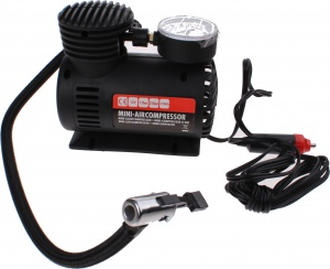 Carpoint mini air compressor 12 Volt plastic black