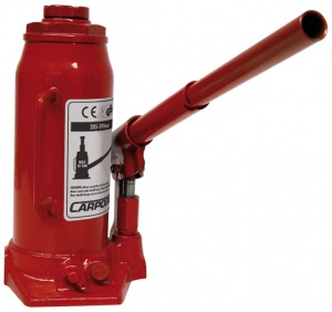 Carpoint pot jack 10 ton steel red